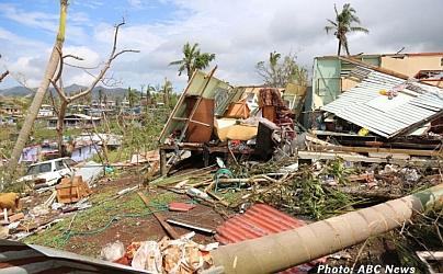 Image of cyclone damage on Fiji