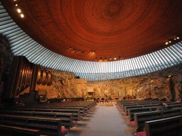 Image of Temppeliaukion kirkko (Lutheran Church in the Rock) Interior